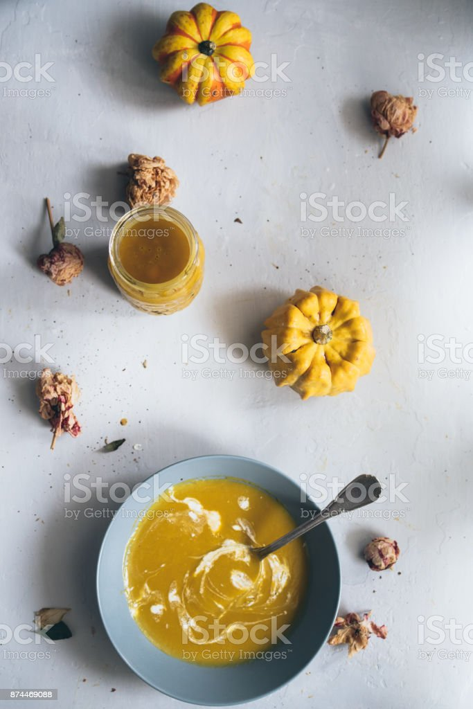 Winter soup time stock photo