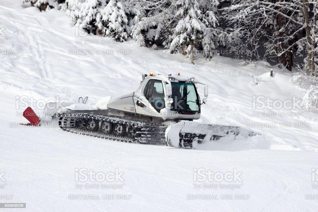 Winter sport European Alps stock photo