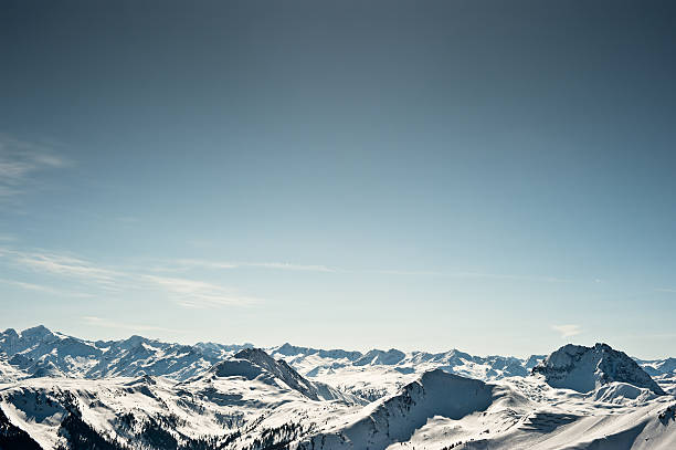 Wintersport Ski Snowboard Piste Kitzbühel Bergpanorama – Foto