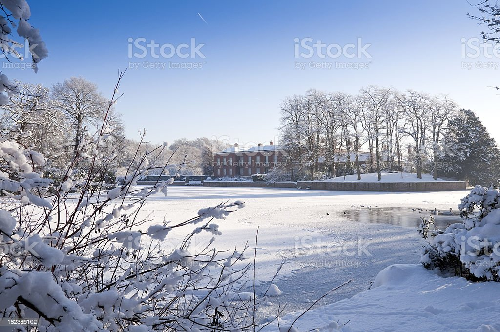 Winter Stately House royalty-free stock photo