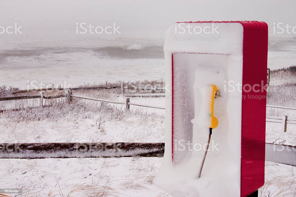 Winter storm at Nauset Beach royalty-free stock photo