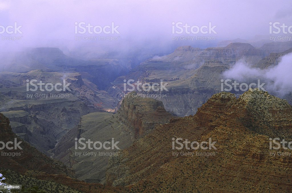 Winter storm clouds over Grand Canyon royalty-free stock photo