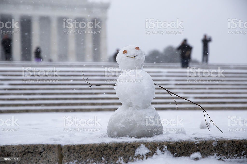 Winter Storm in DC stock photo