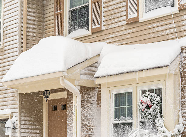 Winter storm in South New Jersey stock photo