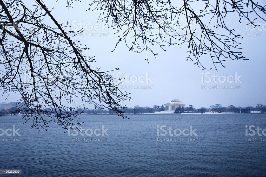 Winter Storm Janus stock photo