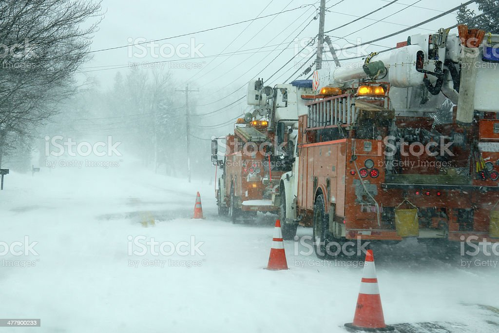 winter storm stock photo