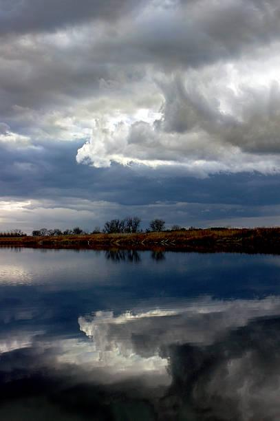 Winter Storm Reflection stock photo