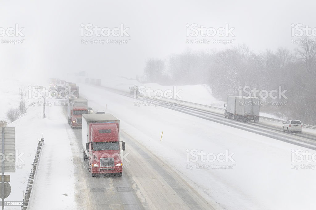 Winter storm travel. royalty-free stock photo