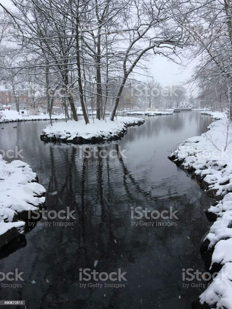 Winter Streaming stock photo
