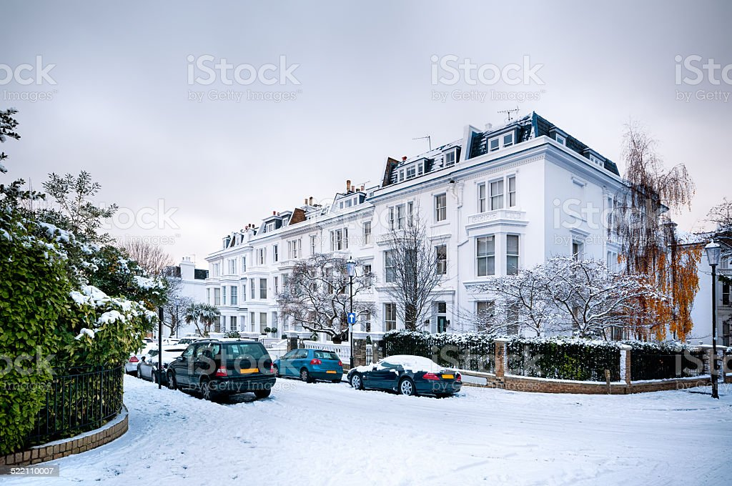 Winter Street, London - England stock photo