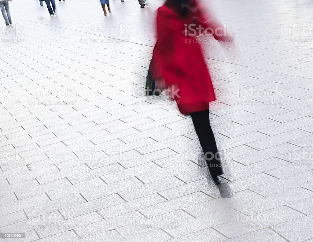 Winter Street Walk royalty-free stock photo