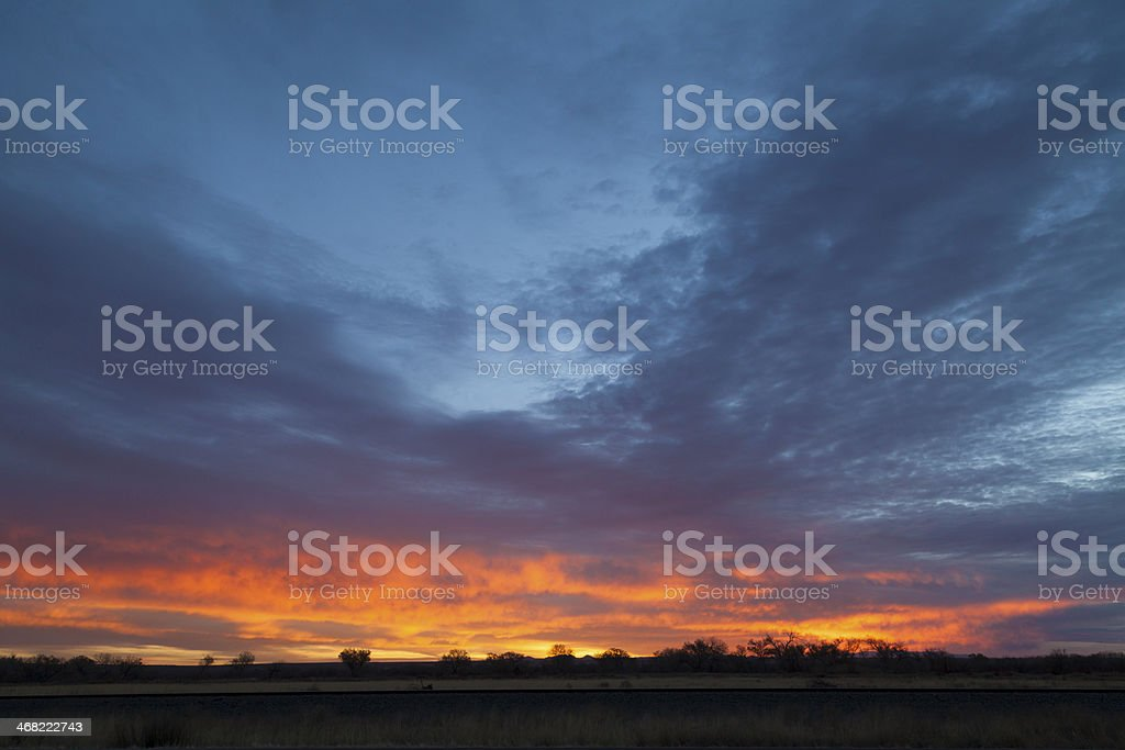 winter sunrise at Bosque del Apache royalty-free stock photo