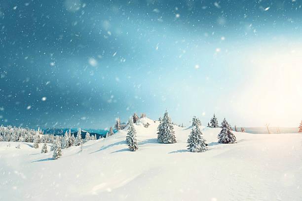 Winter-Sonnenaufgang  – Foto