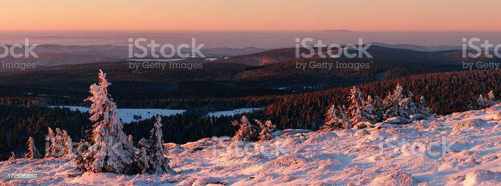 Winter Sunrise XXL royalty-free stock photo