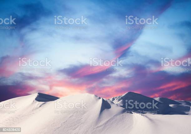 Photo of Winter Sunset In The Mountains