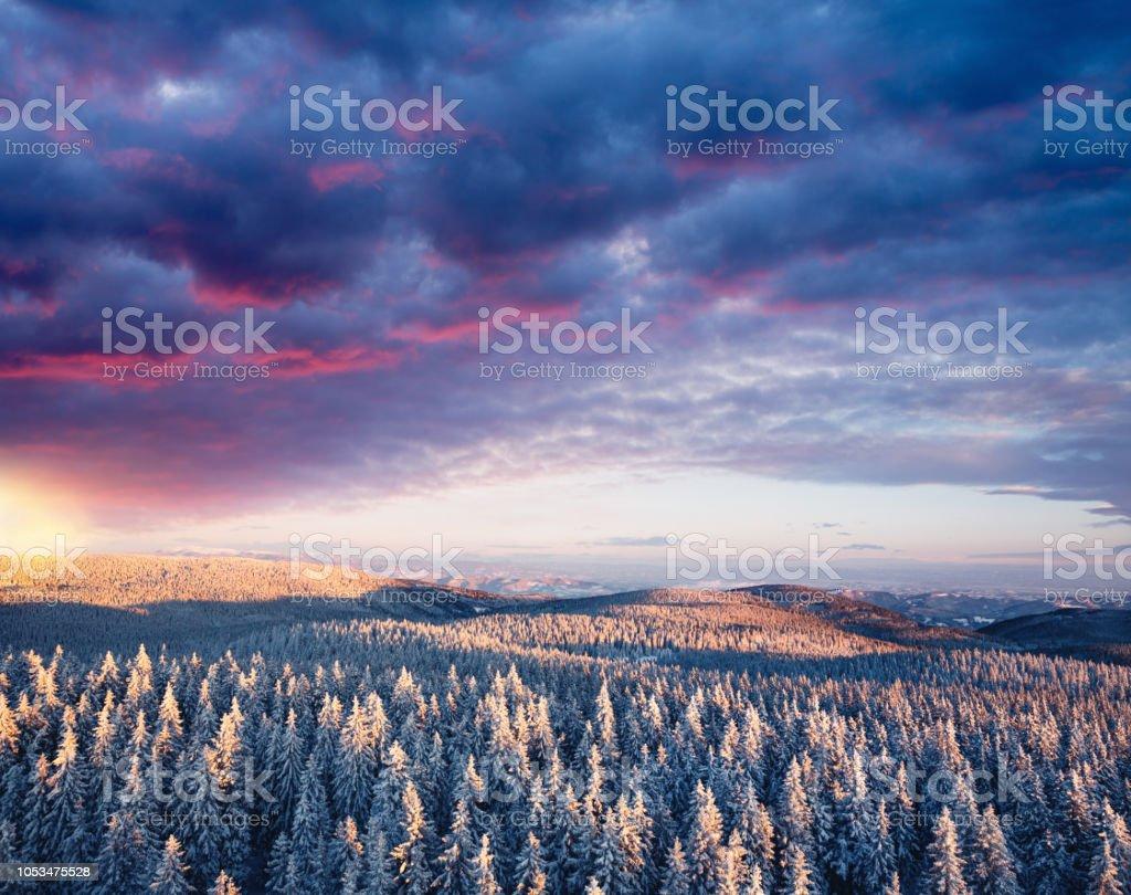 Winter-Sonnenuntergang – Foto