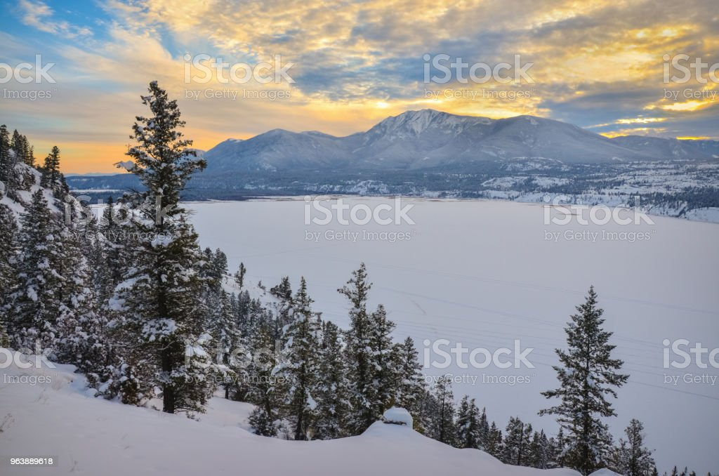 Winter Sunset - Royalty-free British Columbia Stock Photo