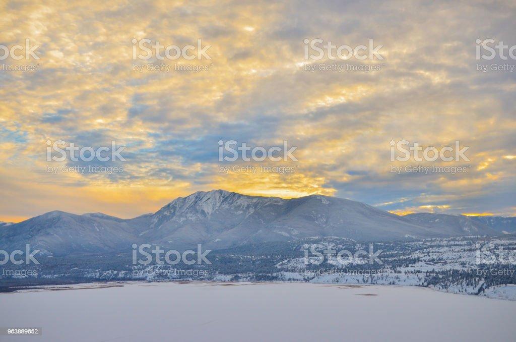 Winter Sunset - Royalty-free British Columbia Stock Photo