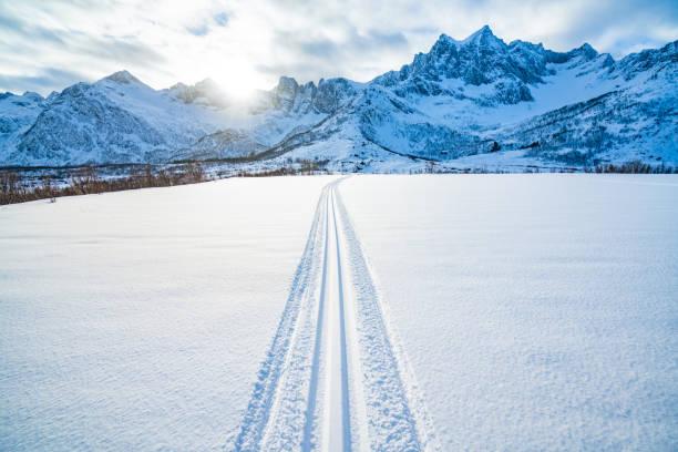 Winter-Sunscht-Blick auf die Fahrt – Foto