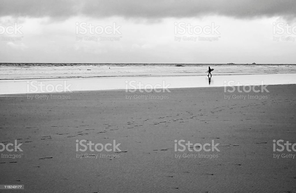 Winter surf in cornwall royalty-free stock photo