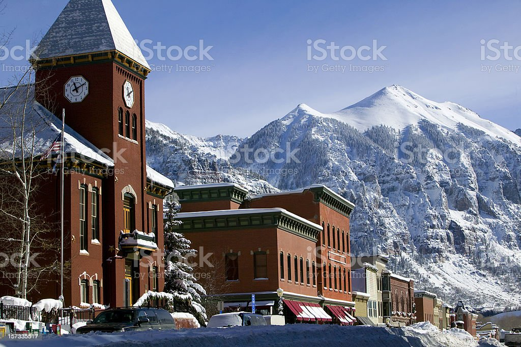 Winter Telluride Colorado royalty-free stock photo