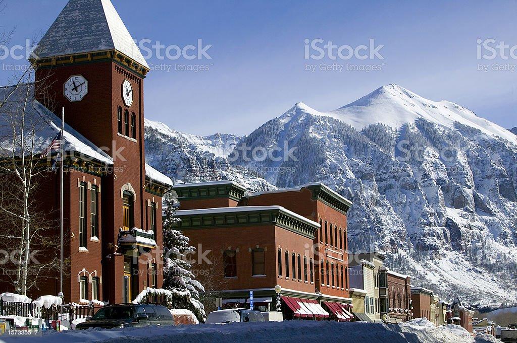Winter Telluride Colorado stock photo