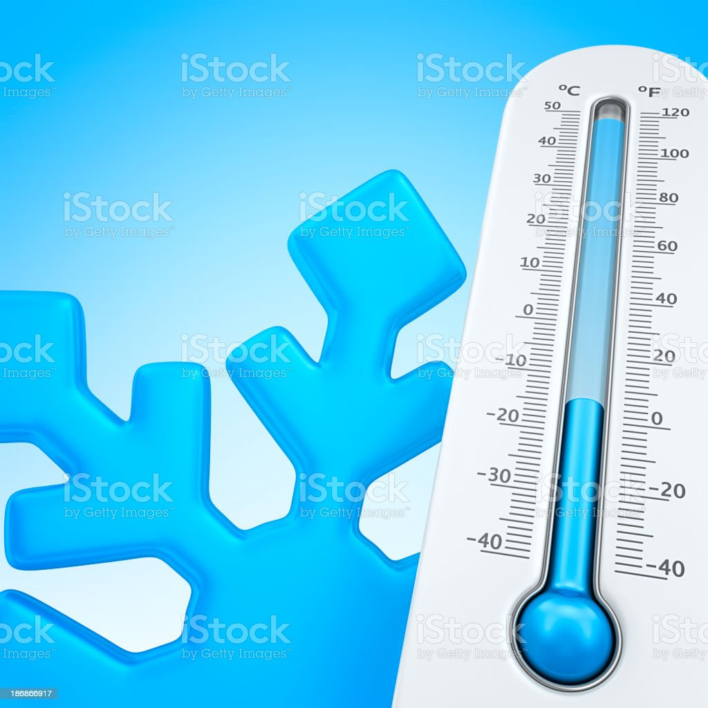 winter temperature royalty-free stock photo