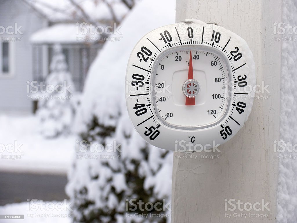 Winter Thermometer royalty-free stock photo