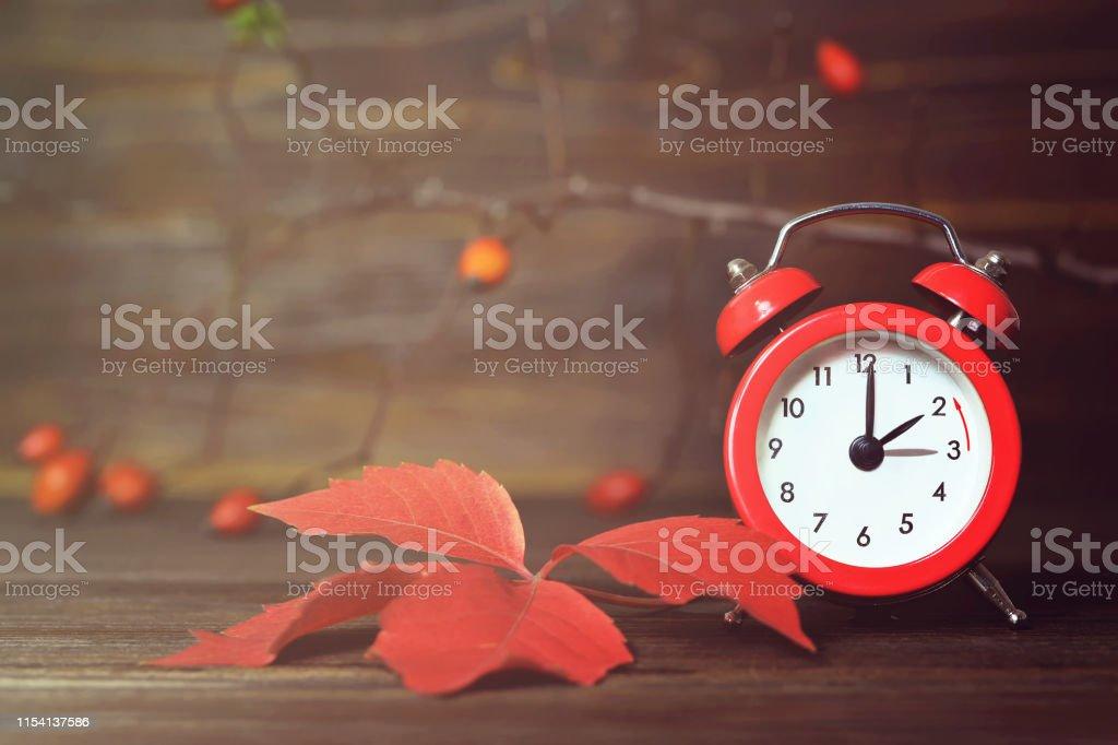 Winter time change. Fall back. Daylight saving time.
