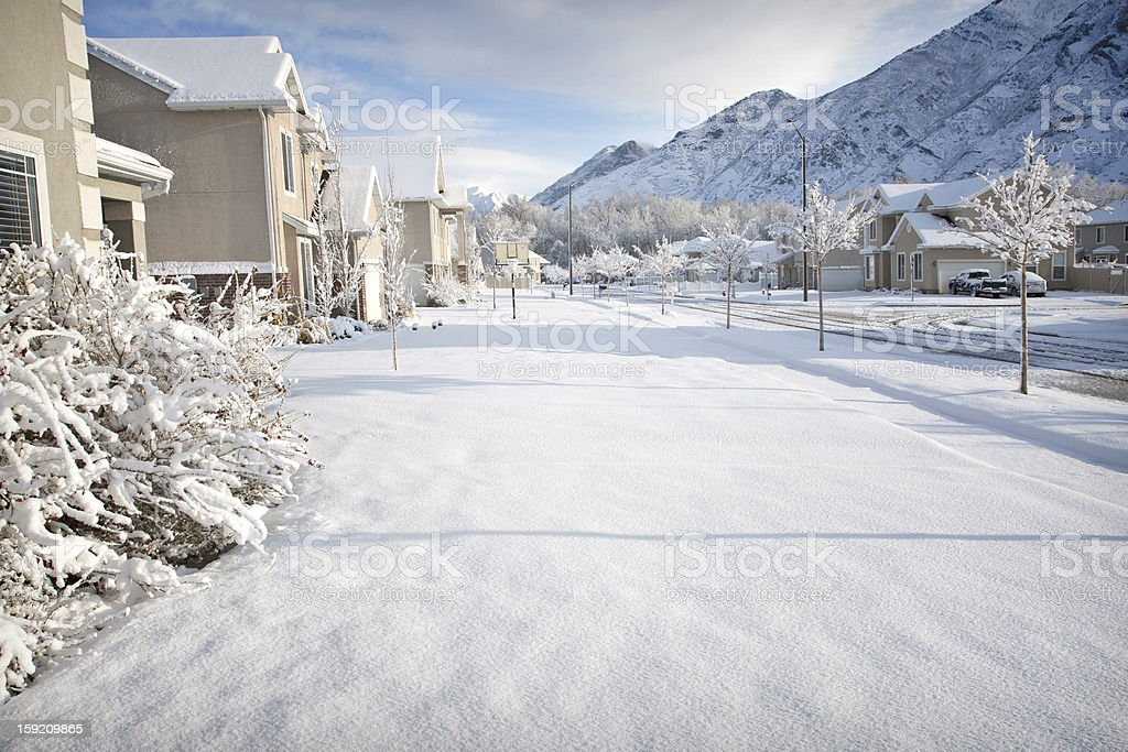 Winter Time in the Suburbs royalty-free stock photo