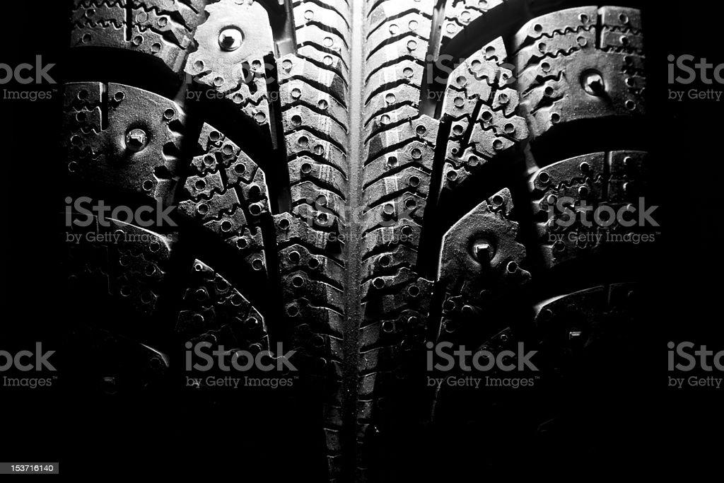 Winter tire royalty-free stock photo