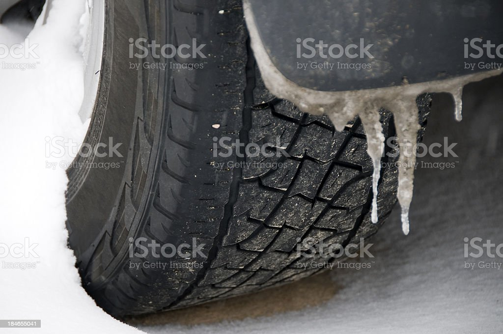Winter Tire Snow Traction royalty-free stock photo