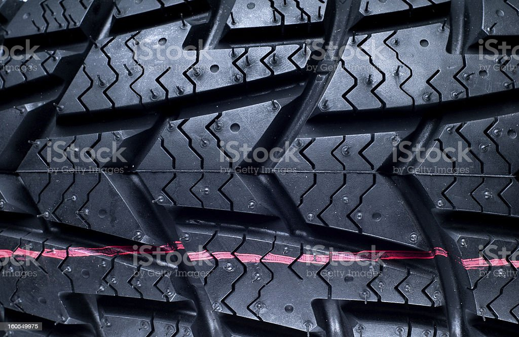 Winter (M+S) tires for motorcycle royalty-free stock photo