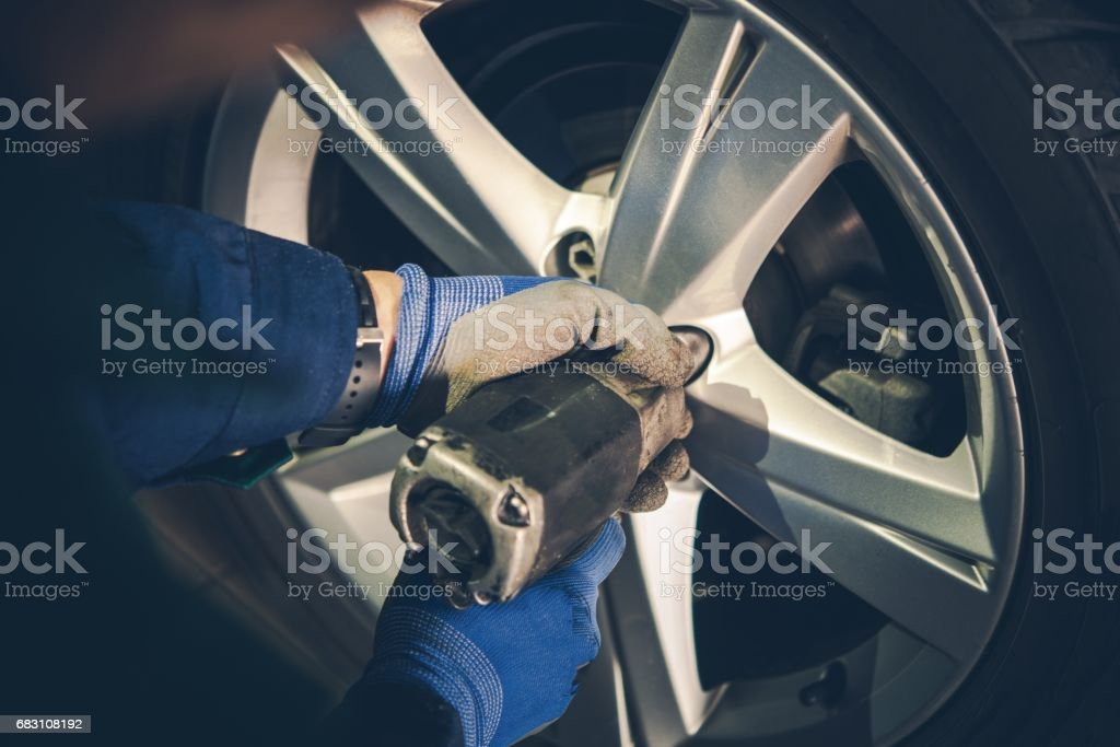 Winter Tires Replacement stock photo