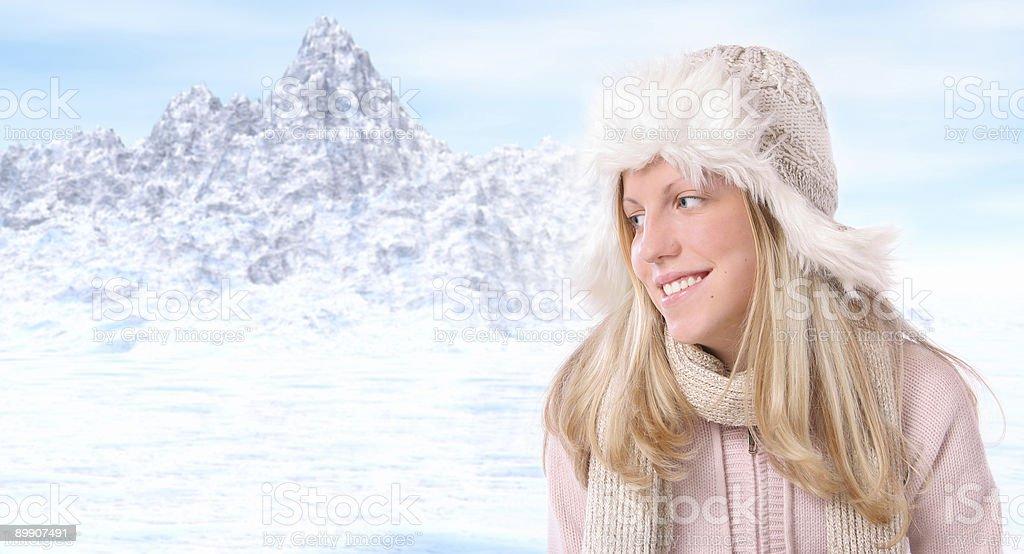 Winter Tourist royalty-free stock photo