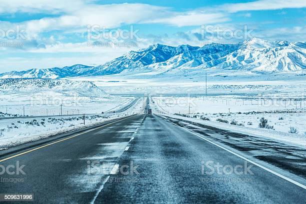 Photo of Winter Utah USA Mountains Expressway