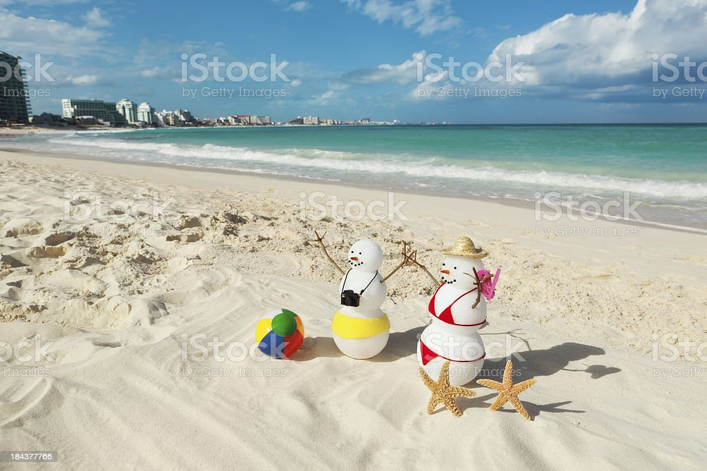 Winter Vacation in Tropical Riviera Maya Beach of Cancun royalty-free stock photo