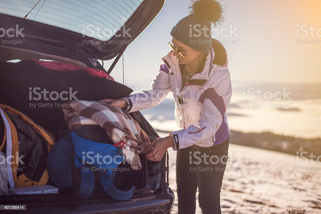 Winter vacation stock photo