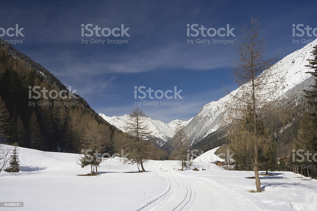 Winter Valley royalty-free stock photo