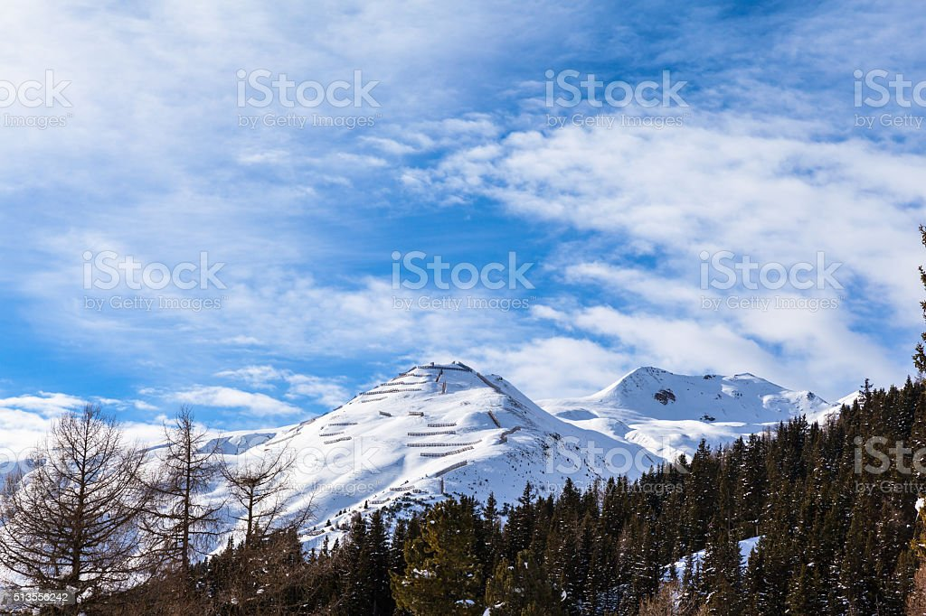 Winter view in Davos stock photo
