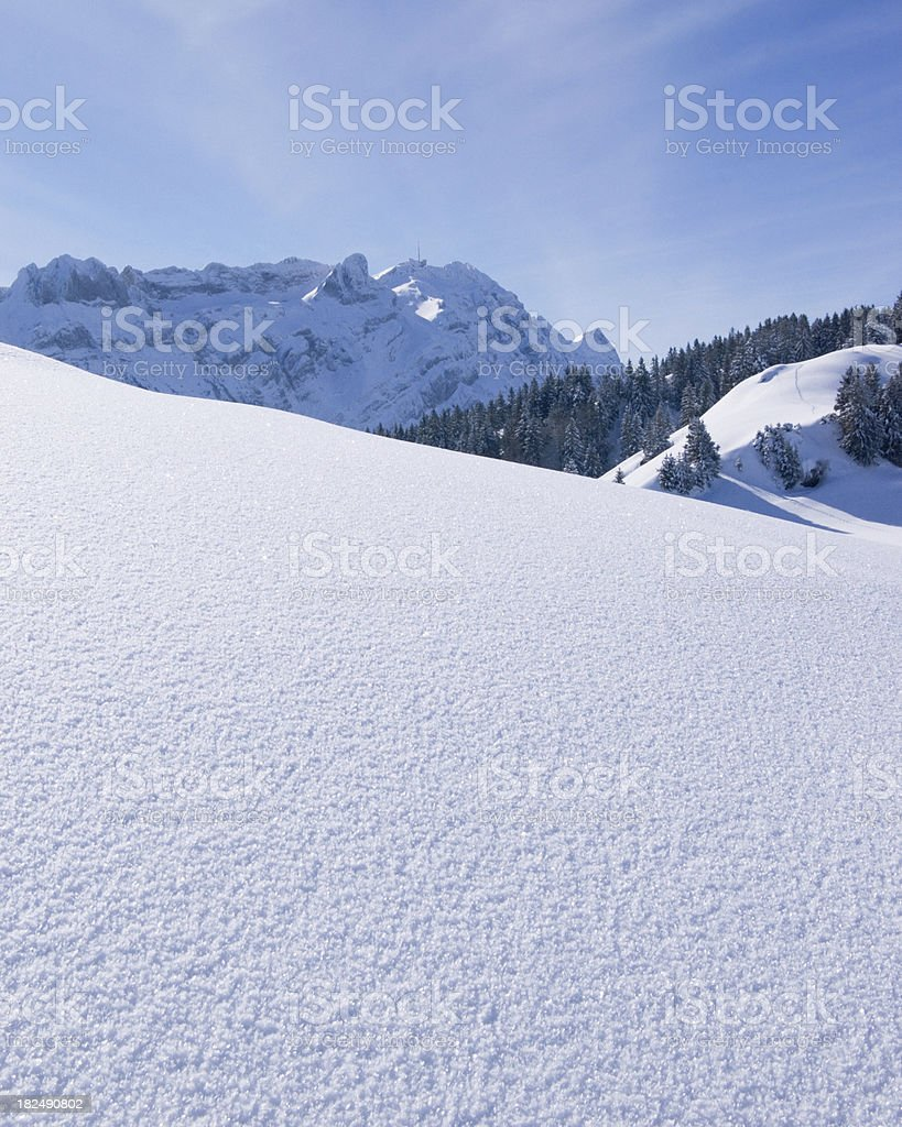 Winter View in the Alps royalty-free stock photo