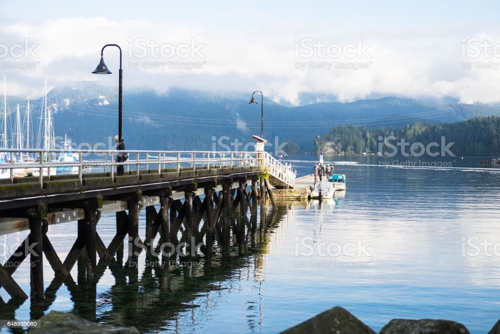 Winter View Of Deep Cove North Vancouver Canada Royalty Free Stock Photo