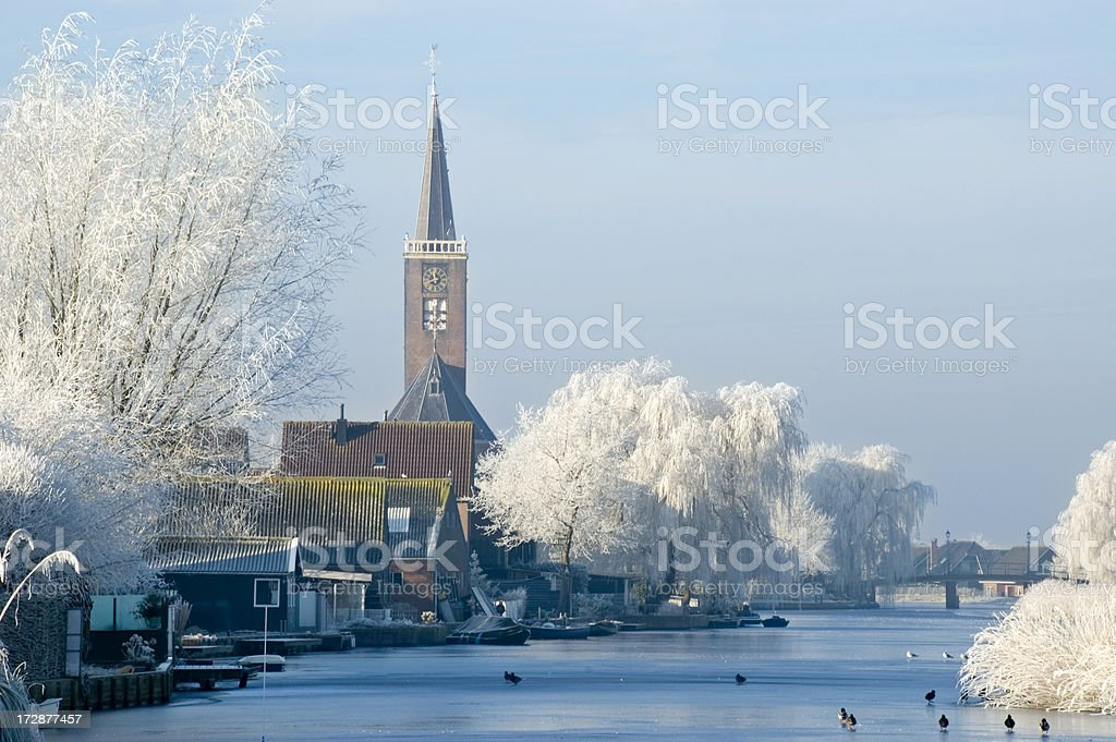Winter Village royalty-free stock photo