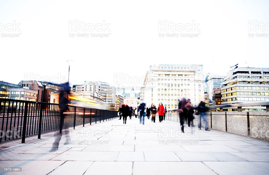 Winter walk home royalty-free stock photo