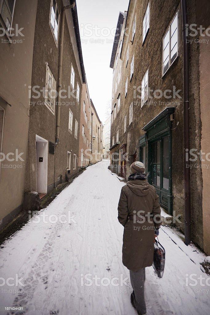 Winter Walk in Europe royalty-free stock photo