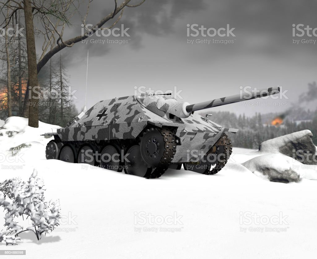 Winter Warfare Military Operations,  Arctic stock photo