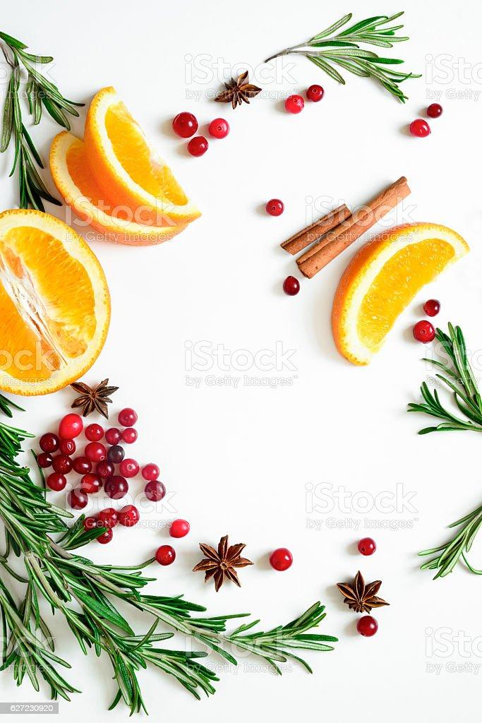 Winter warmer drink background stock photo