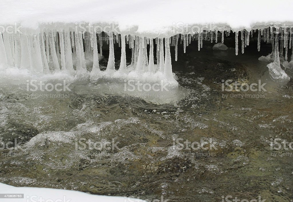 Winter Waters in the White Mountains stock photo