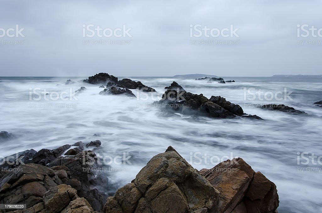 Winter Waves royalty-free stock photo