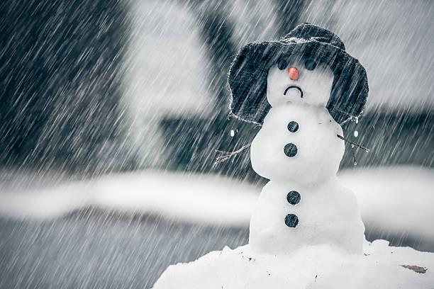 Winter weather anomalies stock photo